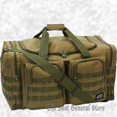 """Water-Resistant 25"""" Olive Drab Tactical Tote Duffle Bag Bug Out Hunting Gear"""