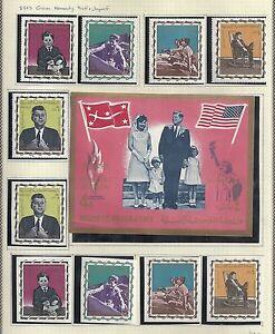 Yemen(Kingdom) 1965 collection KENNEDY stamps MNH VF