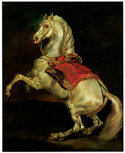Napoleon s stallion tamerlan c 1810 th odore g ricault for Napoleon horse painting