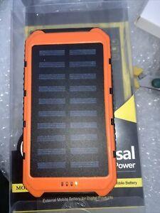 Solar Impermeable 500000mAh Power Bank de 2 LED de batería externo USB Teléfono Móvil BL