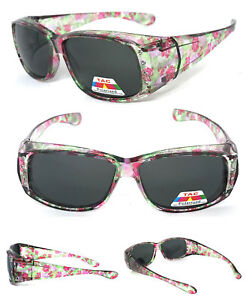 78d49857823 Image is loading Womens-Polarized-FIT-OVER-Sunglasses-Cover-Rx-Glasses-