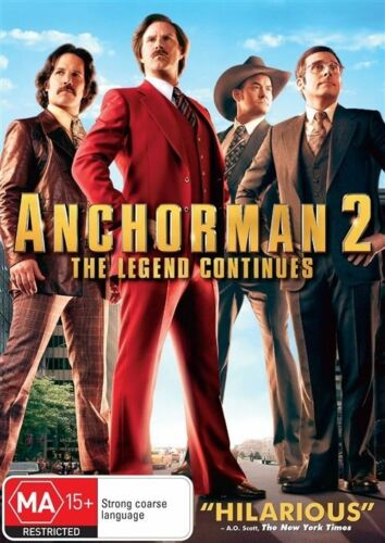 1 of 1 - Anchorman 2 : The Legend Continues (2013) - NEW DVD - Region 4