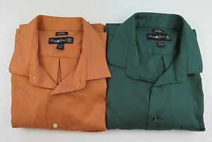 Lot-of-Two-Men-Pronto-Uomo-NonIron-Cotton-Slim-Fit-Dress-Shirts-19-XXXL-3XL-Tall