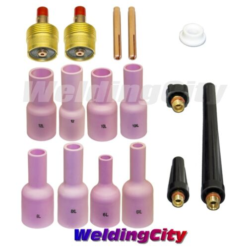 TIG Welding Large Gas Lens Accessory Kit 3//32 for Torch 9//20//25 T44AUS Seller