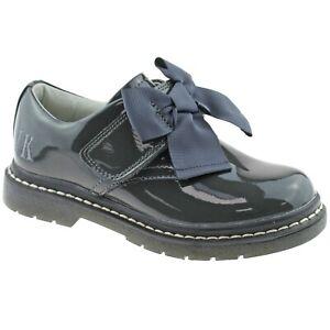 Irene Grey Patent School Shoes F Width