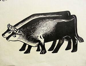 Gaston Albert CHOPARD (1883-1942) Bois gravé d'époque ART DECO Paris ANIMAL