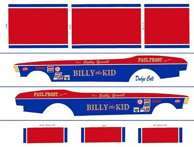 Decals Bobby Yowell Billy The Kid Dodge Colt 1/24th 1/25th Scale Decals