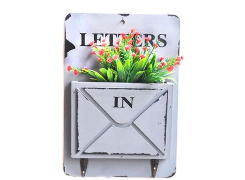 Wall Mounted Key Letter Holder Storage Hanger Shelf Hook Home Garden Decoration