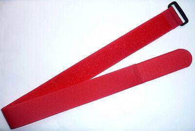 20x Kabelbinder Kabelklett 30 cm x 25 mm neon rot Klettband Klettkabelbinder Öse