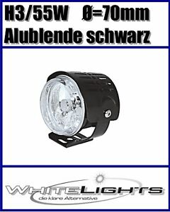 Mini-Clear-Glass-Full-Beam-Headlight-High-with-Aluminium-Cover-Black-Universal