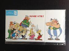 Carte anniversaire à volet + enveloppe Astérix  pret à poster prépayée NEUF