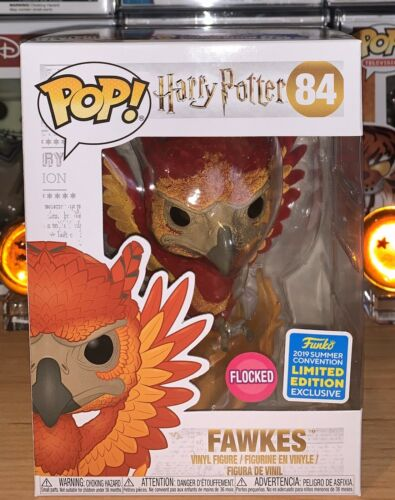 funko pop Fawkes Flocked SDCC 2019 Exclusive