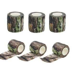 Details about Tactical 6 Rolls Camouflage Gun CamoTape Bionic Fabric  Stretch Bandage Hunting