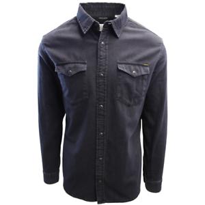 Jack-amp-Jones-Men-039-s-Black-Denim-Slim-Sheridan-L-S-Shirt-Retail-59-50
