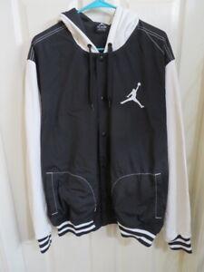 Insistir gatear Incompatible  Nike Hombre Air Jordan Negro Blanco Chaqueta Cortavientos Sudadera Capucha  2XL | eBay