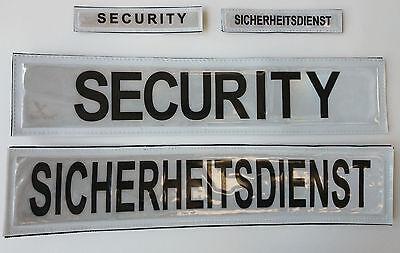 Rückenschild | Brustschild SICHERHEITSDIENST | SECURITY reflektierend klettbar