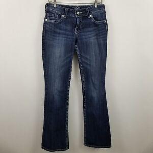 Silver-Suki-Boot-Cut-Womens-Dark-Wash-Blue-Jeans-Size-28-x-34