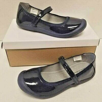 Kid Girls Hanna Andersson Ania Navy Blue Patent Leather Size 12 Mary Janes NIB