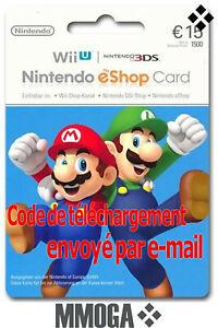 15-Nintendo-eShop-Carte-15-EUR-3DS-Wii-U-Switch-Compte-francais-FR-amp-EU
