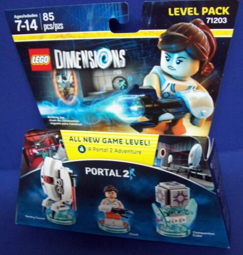 Cube Lego 71203 DIMENSIONS Portal 2 Level Pack new sealed Chell Sentry Turret C