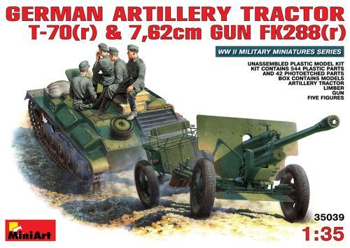 MiniArt 1 35 German Artillery Tractor T-70 crew figures Plastic Model