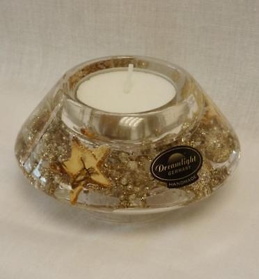 Gilde Dreamlight 73806 Crown Smart Stars Windlicht Kerze Traumlicht Stern gold