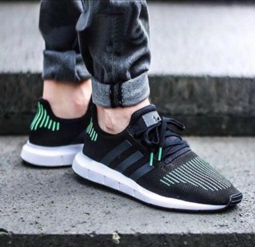 Adidas Originals Swift Run Sneakers CG4110 Running Men/'s Shoes black//green