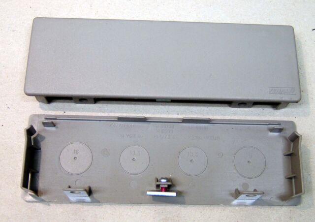 Tehalit FB60190 Endplatte grau (RAL7030) M5533 NEU
