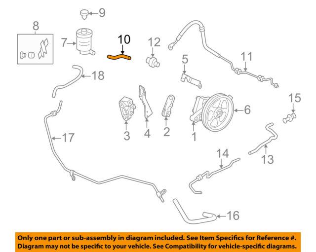 HONDA OEM 11-17 Odyssey-Power Steering Suction Hose 53731TK8A00