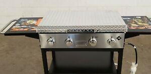 Member's Mark 4-Burner Grill griddle Hard Cover Diamond Plate ALUMINUM DP36