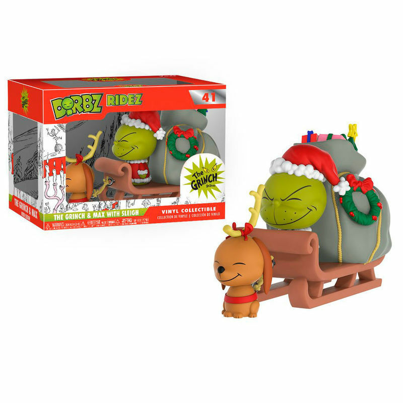 FUNKO DORBZ 41THE GRINCH AND MAX SLED 24CM CHRISTMAS FESTIVE FIGURE VINYL FIGURE