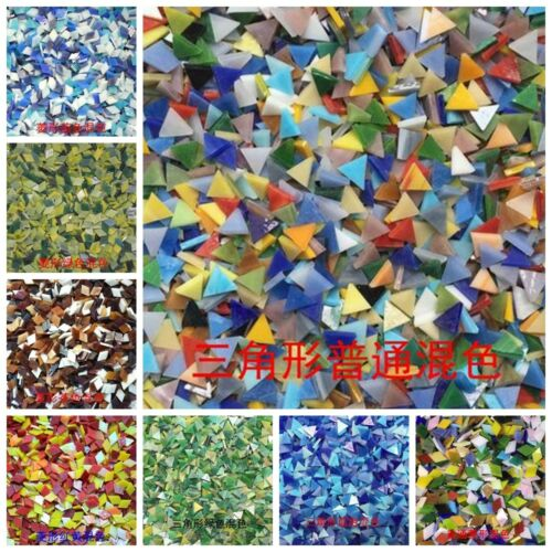 DIY Mosaic Handmade Material Mosaic Tiles triangle Mixed Color Mica glass New