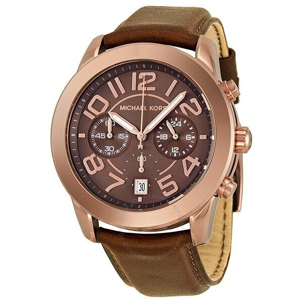 Michael kors ladys mk2250 mercer chronograph brown strap watch ebay resntentobalflowflowcomponenttechnicalissues gumiabroncs Image collections