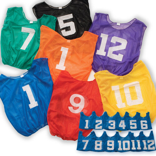 Adult Lightweight Numbered Scrimmage Vest- Purple (Numbered 1-12)