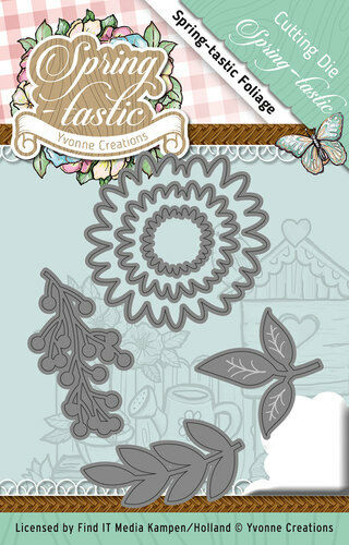 ycd10088 FLEURS//FEUILLES-Spring formidable-stanzschablone Yvonne CREATIONS