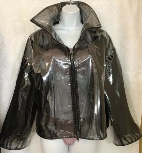 maat Valentino Jacket Zip up Gray Smoky Vinyl lKcJFT1