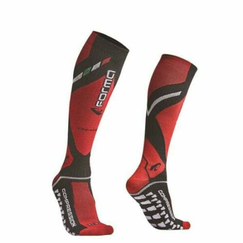Forma Adultos Motocross MX Enduro Motor Bicicleta Calcetines De Compresión Knee Brace