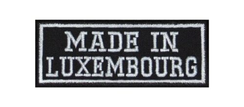 MADE in Luxembourg Biker Patch ricamate MOTORCYCLE MC Country nazione ORIGIN AR
