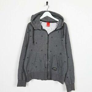 Vintage-NIKE-Small-Logo-Zip-Up-Hoodie-Sweatshirt-Grey-Medium-M