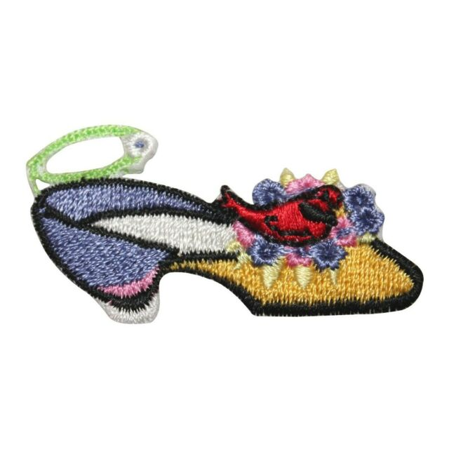 Slipper Shoe Embroidery Iron On Applique Patch