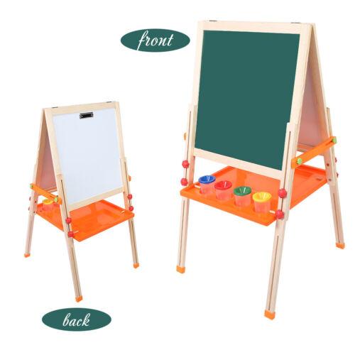 Kinder Spiel-Tafel Kreidetafel Whiteboard höhenverstellbar Halterung aus Holz DE