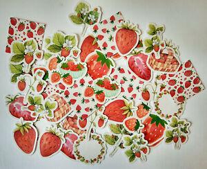 Erdbeer-Sticker-45er-Set-Kinder-basteln-Scrapbooking-Aufkleber-Erdbeeren-Fruechte