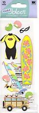 SURFING Stickers Surf Board Sea Shells 10 pcs Sunglasses Wax Rack Jolee's New