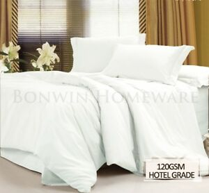 1000TC-Hotel-Grade-MF-Fitted-Flat-Pillowcase-Bed-Sheet-Set-All-Size