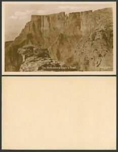 South Africa Old Real Photo Postcard The Drakensburg Eagle's Head Mountain Rocks