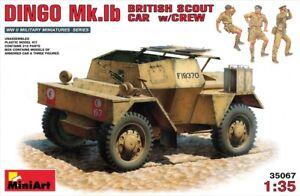 Miniart 1:3 5 Dingo Mk.Ib British Scout Car With Crew Figurines Modèle Kit