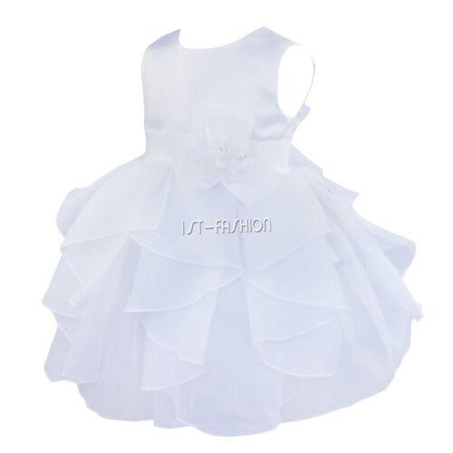 Baby Mädchen Festkleid Blumenmädchen Sommer Taufkleid für Taufe Hochzeits 62-98