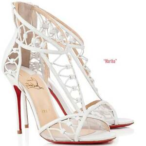 purple louboutins shoes - Christian Louboutin Martha White Leather Cutout Sandals Heels ...