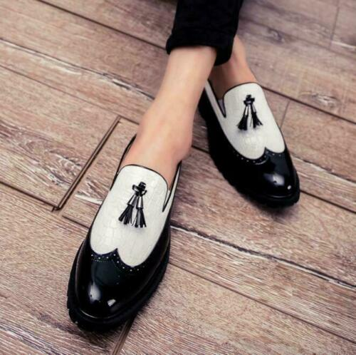 Men/'s Scale Patent Leather Slip On Casual Loafers Formal Business Shoes Plus Siz