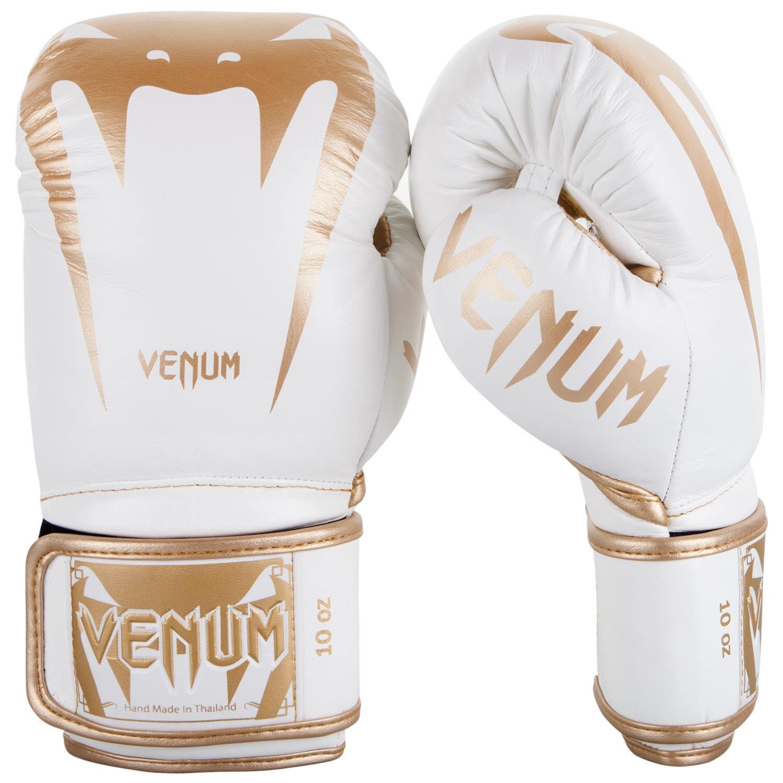 Venum Giant 3.0 in Pelle Nappa Guantoni Da Boxe Sparring Muay Thai oro Bianco